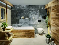 Stylová řešení vašich koupelen a kuchyní | SIKO KOUPELNY & KUCHYNĚ Boho Bathroom, Bathroom Design Small, Bathroom Interior Design, Dark Bathrooms, Dream Bathrooms, Cottage Kitchens, Apartment Design, Bathroom Inspiration, Wooden Diy