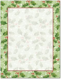 This festive Jolly Holly Letterhead is perfect for the Holidays!This festive Jolly Holly Letterhead is x 24 lb. Modern Christmas Cards, Christmas Labels, Christmas Frames, Free Christmas Printables, Christmas Clipart, Christmas Photo Cards, Christmas Pictures, Christmas Art, Holly Christmas