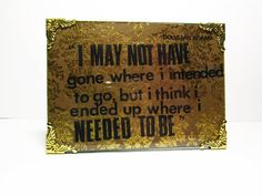 Douglas Adam Needed to Be 5x7 Framed Quote Collage on by melizzzah, $19.00