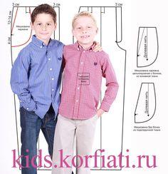 Базовый гардероб любого юного джентльмена состоит из брюк, рубашки и пиджака. На сайте предоставлены разнообразные выкройки одежды для мальчиков