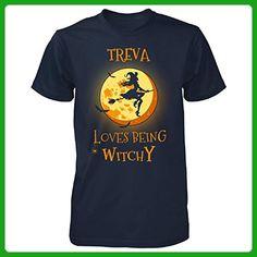 Treva Loves Being Witchy. Halloween Gift - Unisex Tshirt Navy 4XL - Holiday and seasonal shirts (*Amazon Partner-Link)
