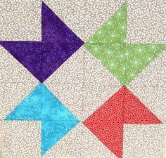 El bloc  què us presentem avui és molt senzill, però molt fresc i bonic. Formarem un estel unint 4 mini-blocs. La gràcia està en la combi...