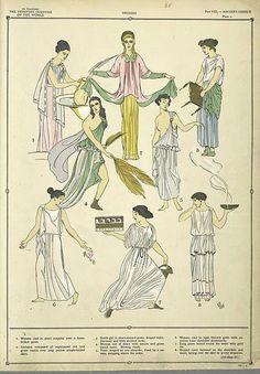 Greek Costume - History of the Feminine Costume of the World, Paul Louis 1920s
