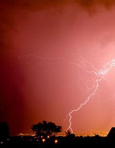 Lightning hitting the ground
