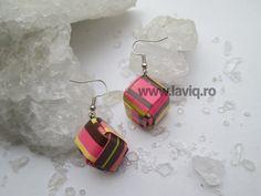 Cercei Eco cub Dungi Colorate www.laviq.ro www.facebook.com/pages/LaviQ/206808016028814