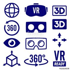 #virtual #reality #icons #vr #gaming #emblem #virtualreality #headset #eye #3d #fakegraphic #adobe