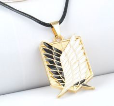 Attack on Titan Wings of Liberty Pendant Necklace Shingeki no Kyojin Cosplay Anime Necklace, Wing Necklace, Pendant Necklace, Goodies Manga, Mikasa, Attack On Titan Anime, Anime Merchandise, Anime Outfits, Animal Jewelry