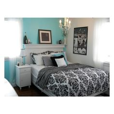 Home Inspirations / Tiffany inspired   bedroom on a budget - Bedroom Designs - Decorating Ideas - HGT found on   Polyvore