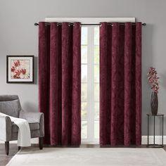 Madison Park 2-pack Cecil Velvet Curtains, Dark Red
