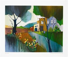 Tarkay, Itzchak Autumn in the Country 2006 9 7/8'' x 12 3/8'' Serigraph in color on wove paper. Signed in pencil and numbered.