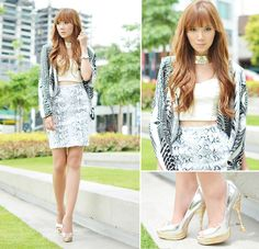 Please re-hype: White Leather (by Camille Co) http://lookbook.nu/look/3774083-Please-re-hype-White-Leather