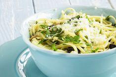 Linguine pétoncles-citron Linguine, Parmesan, Potato Salad, Cabbage, Spaghetti, Soup, Potatoes, Pasta, Meat