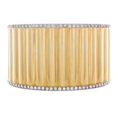 Estate 18kt Yellow Gold and Diamond Bracelet