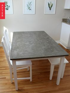 Before & After: Mismatched IKEA Table Gets a Concrete Makeover | Apartment Therapy