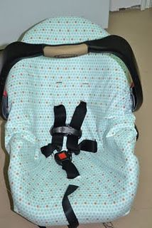 carseat cover free tutorial!