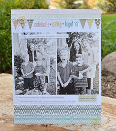 Layout by guest designer Wendy Sue Anderson using Lily Bee Persnickety  #cards #lilybee #lilybeedesign