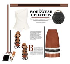 """Workwear Updates"" by emcf3548 ❤ liked on Polyvore featuring Topshop, Pierre Hardy, Roland Mouret, Pendaflex, Fountain and MICHAEL Michael Kors"