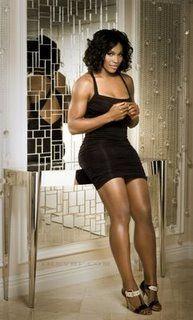 Serena Williams in September issue of Men's Fitness Magazine, 2008