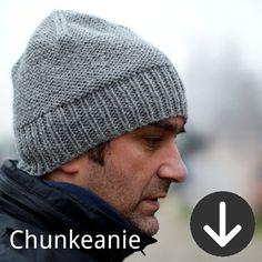 Woolly Wormhead - Chunkeanie - free men's beanie hat knitting pattern Finally a manly hat pattern! Mens Beanie Hats, Knit Hat For Men, Hats For Men, Beanies, Men's Beanie, Slouchy Hat, Women Hats, Knitting Patterns Free, Free Knitting