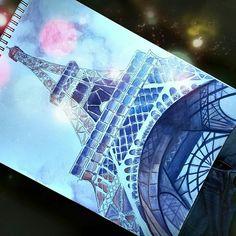 Eiffel Tower ~Watercolor  ♡Keny Vels