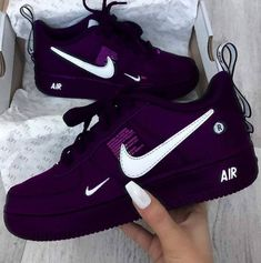 Nike Shoes OFF!> Shoes Sneakers Cute shoes Sneakers outfit Purple sneakers Nike shoes - Image about black in Trend by Karla Vazquez on We Heart It - Sneakers Fashion Outfits, Nike Outfits, Fashion Shoes, Nike Fashion, Nike Blazers Outfit, Boot Outfits, Cheap Fashion, Trendy Fashion, Fashion Brands