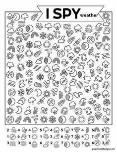 Keep the kids busy and learning and get some work done with this free printable I spy weather themed activity page. Weather Activities, Craft Activities For Kids, Preschool Activities, Weather Crafts, I Spy Games, Vision Therapy, Kids Education, Science Education, Science Experiments