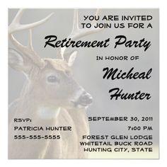 Retirement Party Invitations Hunter Retirement Party Celebration Invitation