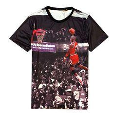 4b2e5d863b47 NEW jordandunk graphic t-shirt 3D. Michael Jordan ShirtsStreetwearLouis ...