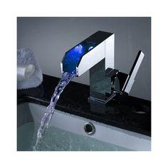 3色LEDバス・洗面蛇口 水流発電 温度センサー付