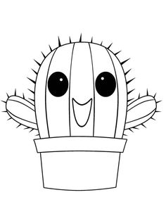 Cactus Coloring Pages. Coloring book pages can also inform kids, coaching them through aspects and various styles. Online Coloring Pages, Cute Coloring Pages, Free Printable Coloring Pages, Free Coloring, Coloring Books, Cactus Pictures, Colorful Pictures, Football Coloring Pages, Drawing For Kids