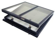 Dual Pane Alumilite Glass Openable Skylight by BristoliteDS
