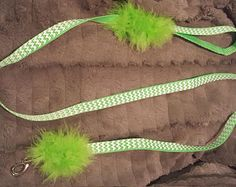 Pet, Dog Collar and Leash Matching set.  Small green and white chevron design -    Edit Listing  - Etsy