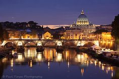 St. Peter's Basilica from Ponte Umberto over the Tiber River. Ponte Umberto is a short walk from Piazza Navona.