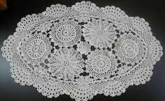 Vintage Oval or Rectangular Doilies Matching Pattern. Free Shipping.