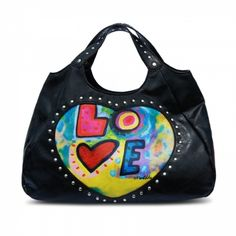 Susan Nichole Vegan Handbag Style #64 - The Love Bag in Black