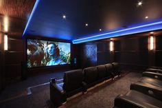 Home theater that has laser video projection