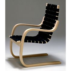 "Affectionately referred to as the ""Pension Chair,"" because it allows the user to be in a state of retirement. Artek Alvar Aalto - Lounge Chair 406"