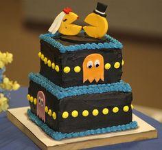 Pac-man wedding cake.