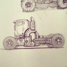 Vehicle sketches by concept designer Scott Robertson Workshops