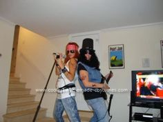 Homemade Guns 'N' Roses Couple Costume: My older sister and I have been taking our duo dress up costumes very seriously for years now.  We have done some pretty successful ones in the past, but