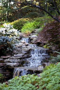 57 diy garden pond waterfall for your back yard garden and outdoor diygardenpond waterfallforyourbackyard 35 the best garden pond landscaping ideas you must have Backyard Water Feature, Ponds Backyard, Pond Landscaping, Landscaping With Rocks, Garden Pond, Water Garden, Garden Waterfall, Diy Waterfall, Natural Pond