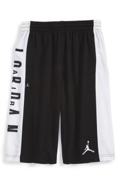 6f95acb14adc Air Jordan Boy Youth Basketball Shorts ~ Black   White ~ Dri-Fit ~  Jordan   Jumpman  YouthShorts  Everyday