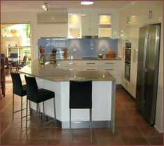 [ 12 Best G Shaped Kitchen Layout Design Amp Its Pros Cons ] - Best Free Home Design Idea & Inspiration Small U Shaped Kitchens, G Shaped Kitchen, Kitchen Island Designs With Seating, Best Kitchen Designs, Kitchen Seating, Design Kitchen, Kitchen Layout Plans, Small Kitchen Layouts, Kitchen Planning