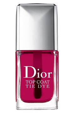 Dior 'Vernis' Tie Dye Top Coat at Nordstrom, this is the must-have item for this summer. Use it as not top coat, use it as candy like nail polish.