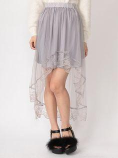 チュールテールスカート