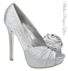 Ladies Silver Sparkle Occasion Party Birthday Satin Womens Wedding Heels Shoes in Clothes, Shoes & Accessories, Women's Shoes, Heels | eBay
