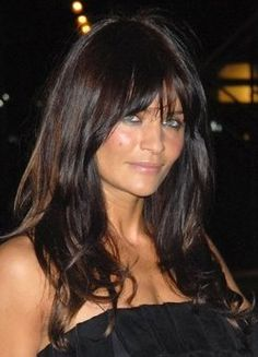 Helena Christensen  LOVE THE HAIR COLOR!!!!