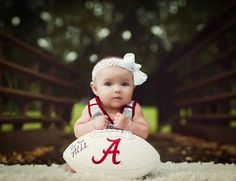 ROLL TIDE infant baby photography Alabama Football