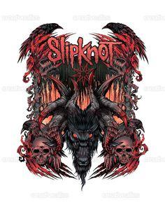 Slipknot Merchandise Graphic by Trustkill Jonathan on CreativeAllies.com
