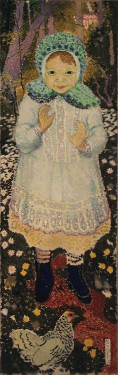 Young Girl with a Hen, 1890 / Maurice Denis